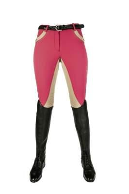 Cavallino Marino by HKM Reithose -Silver Stream- Silikon Vollbesatz, Damengrösse 34, pink
