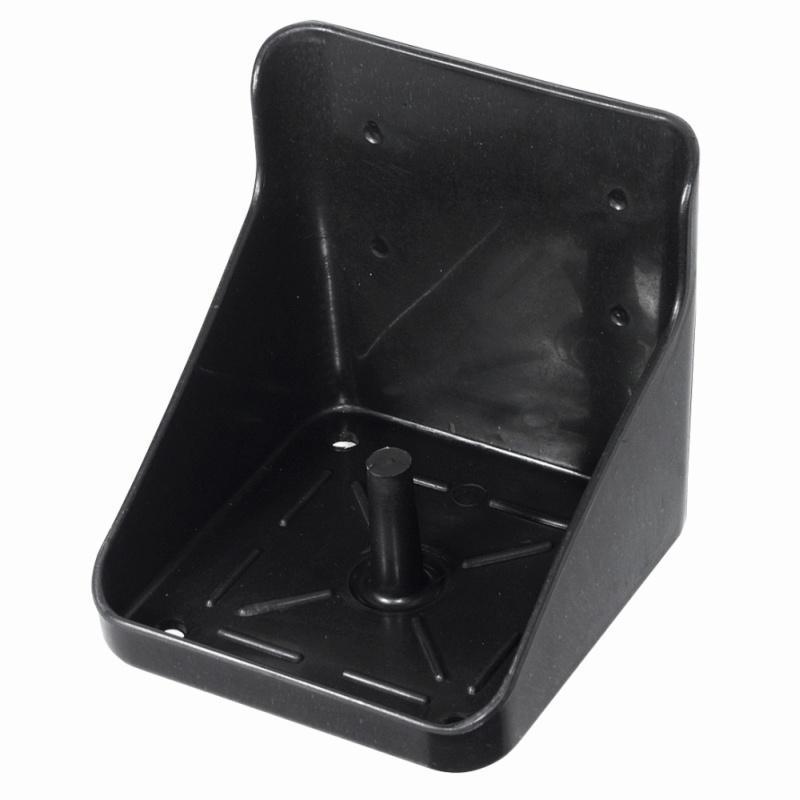 WALDHAUSEN Lecksteinhalter, Kunststoff, schwarz