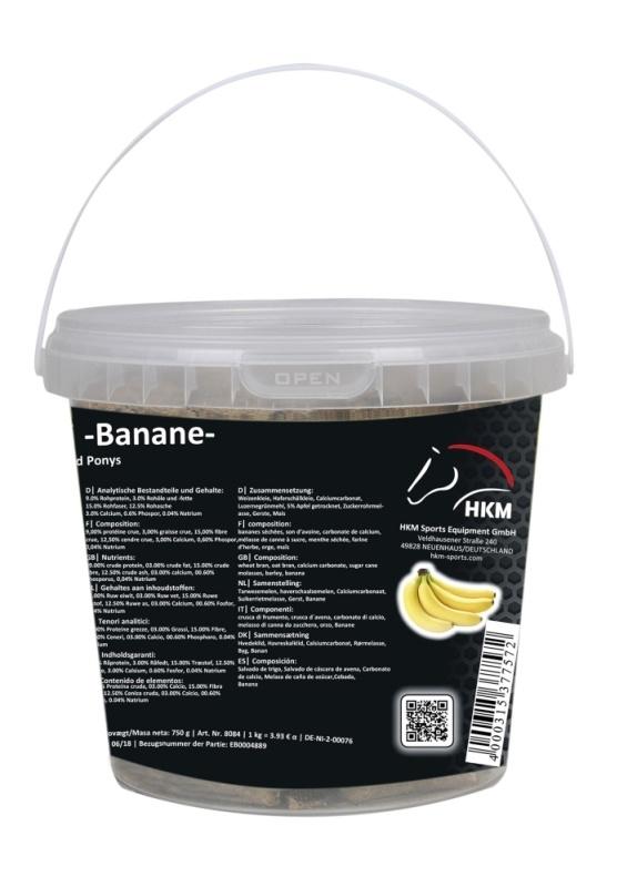 HKM Pferde-Leckerli -Banane- im Eimerchen 750 g, 750 g