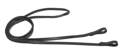 BUSSE solibel Zügel LEDER-GUMMI, Warmblut (150 cm), schwarz