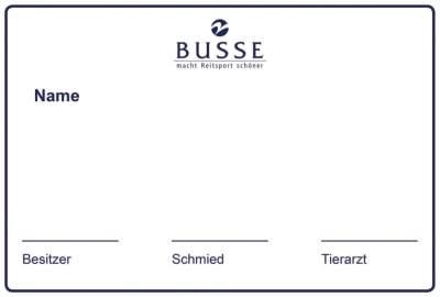 BUSSE Boxenschild STABLE, 30 x 20 cm, weiß
