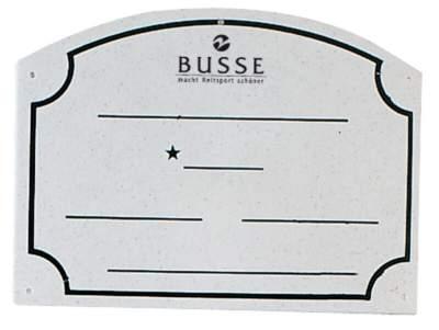 BUSSE Boxenschild PVC