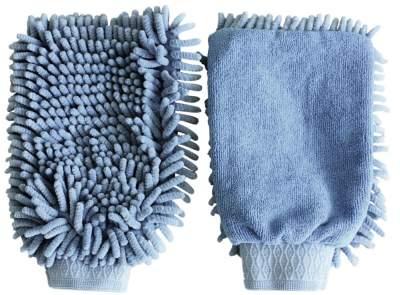 KERBL Putzhandschuh Microfaser, hellblau