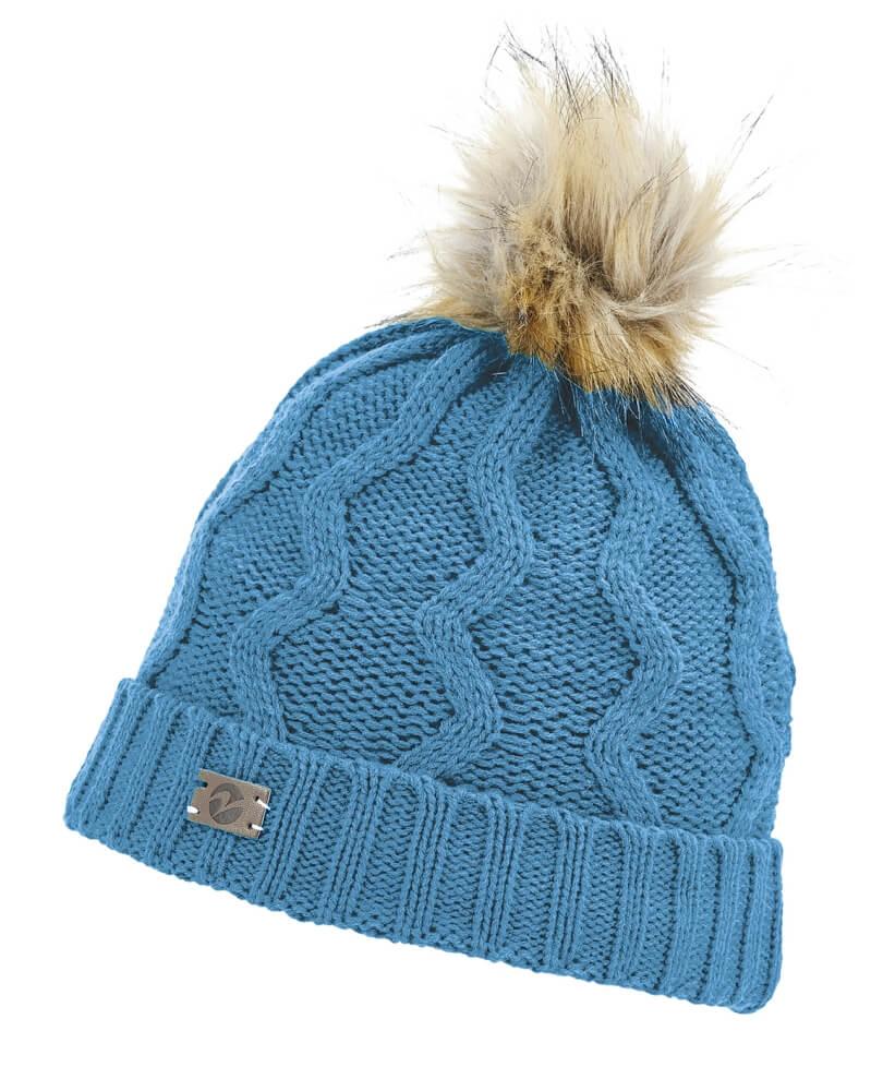 BUSSE Mütze TRADITION Feinstrickmütze mit Fleecefutter Wintermütze schwarz