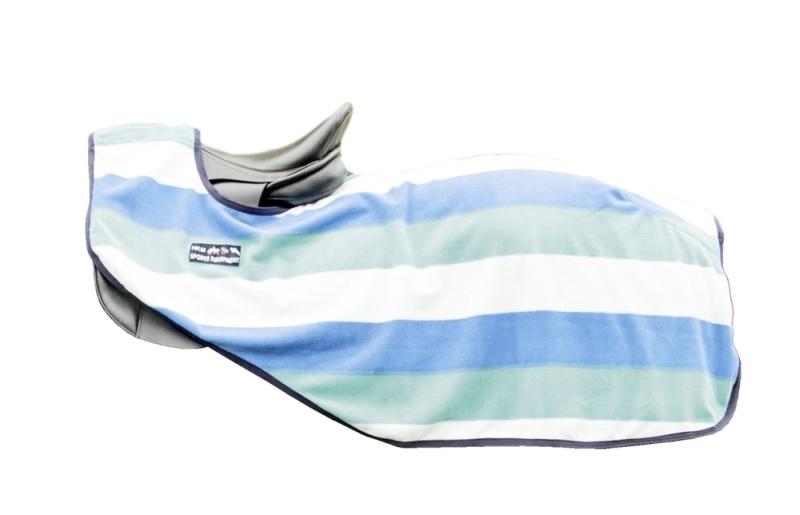 HKM Nieren Abschwitzdecke -fashion stripes- mit Klett