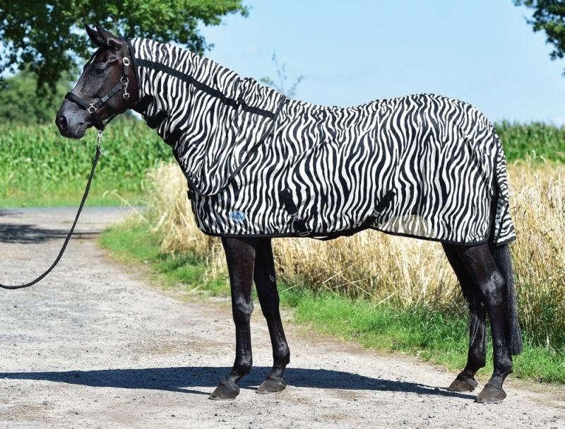 BUSSE everline PADDOCK-Fliegendecke ZEBRA, Rückenlänge 105 cm, zebra