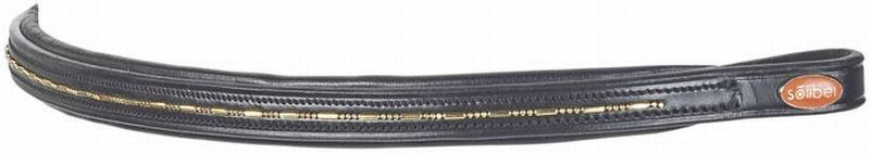 BUSSE Stirnband GOLD, Vollblut, schwarz/goldkette