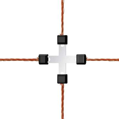 Litzclip Litzen-Kreuzverbinder 3 mm, (5 St./Blister), Edelstahl