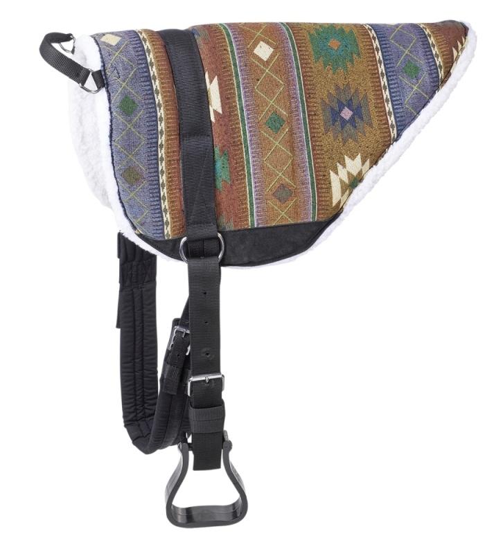 BUSSE WILDHORN Bareback-Pad MEXICO, Rückenlänge 64 cm, blau/grün/bordeaux