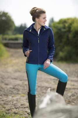 HKM PRO-TEAM Fleece/Nylonjacke -Neon Sports-
