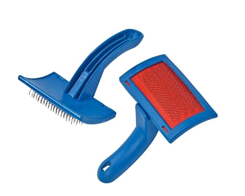 BUSSE Klettverschlussbürste, blau