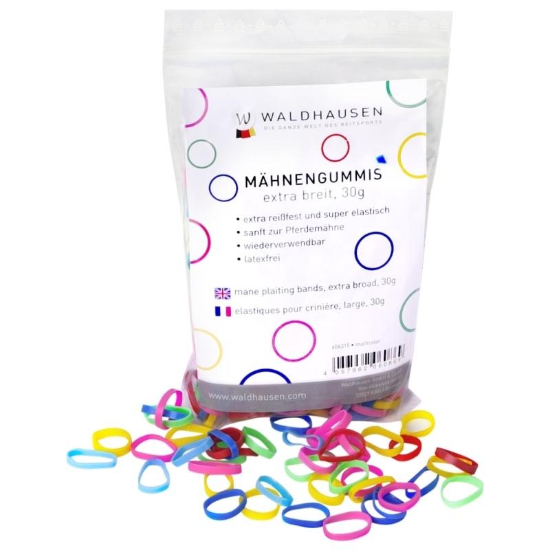 WALDHAUSEN Mähnengummis extra breit, multicolor, 30 g