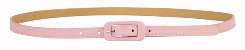 HKM Modischer Gürtel aus Lederimitat - 15 mm breit, Groesse 36-40, rosa