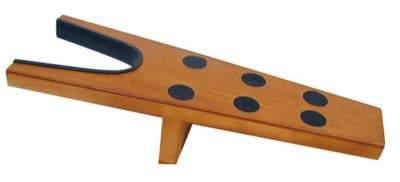 HKM Stiefelauszieher aus Holz mit Gummistopper