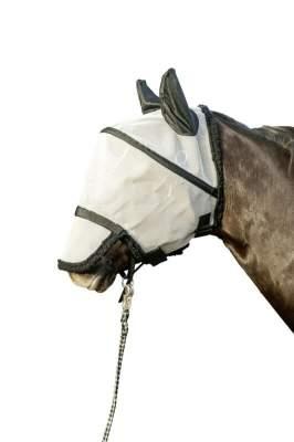 HKM Fliegenschutzmaske mit Nüsternschutz zum Abkletten