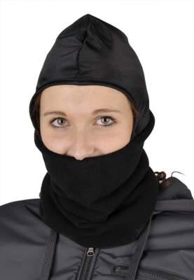 HKM Kopf/Gesichtswärmer aus Fleece, unisize, schwarz