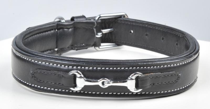 HKM Lederhundehalsband -Gebiss-
