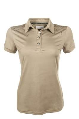 Cavallino Marino by HKM Damen Poloshirt -Silver Stream-, Grösse XS, camel