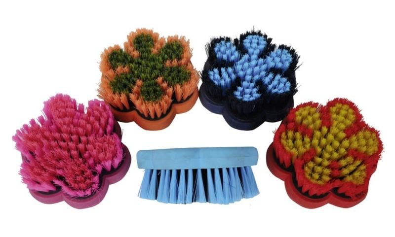 HKM Kardätsche -Flower- 10,5 x 10,5 cm, farblich sortiert