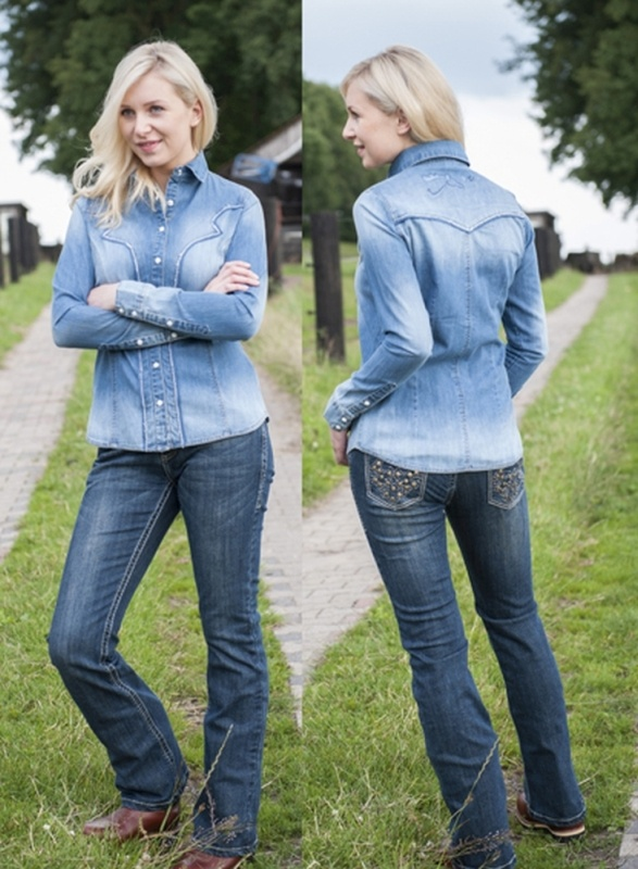 HKM TEXAS Jeans bootcut -studs-