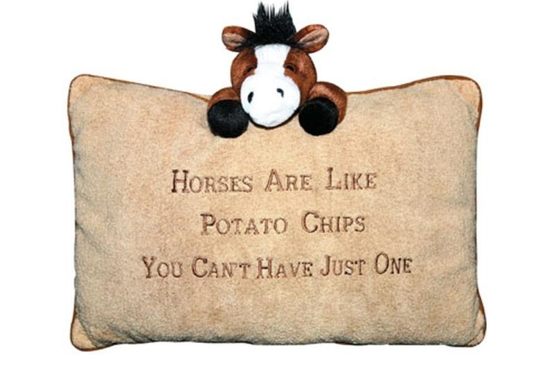 HKM Plüschkissen -Horses are like Potatochips-