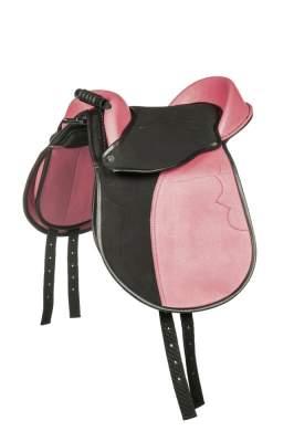 HKM Shetty-Sattel -Colour-, schwarz/pink