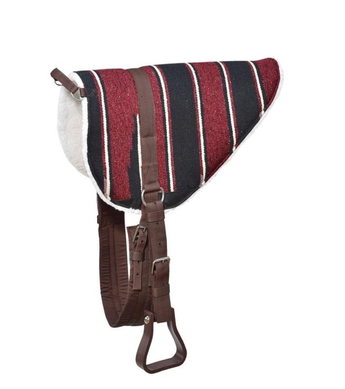 BUSSE WILDHORN Bareback-Pad NAVAJO, Rückenlänge 64 cm, bordeaux/schwarz
