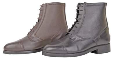 HKM Jodhpurstiefel mit Schnürsenkel und Reißverschluss, Schuhgrösse 36, schwarz