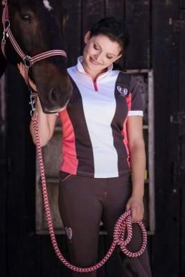 Covalliero Competiton-Shirt Siena, Grösse XL, terra/strawberry