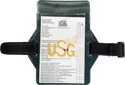 USG Medical card, Rückseite mit Samtbezug