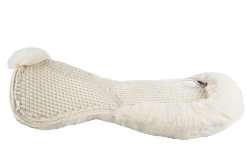 HKM Gelpad mit Unterseite aus Wolle, natur