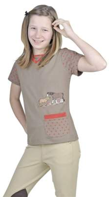 HKM T-Shirt -Fancy-, Kindergrösse 116, sand