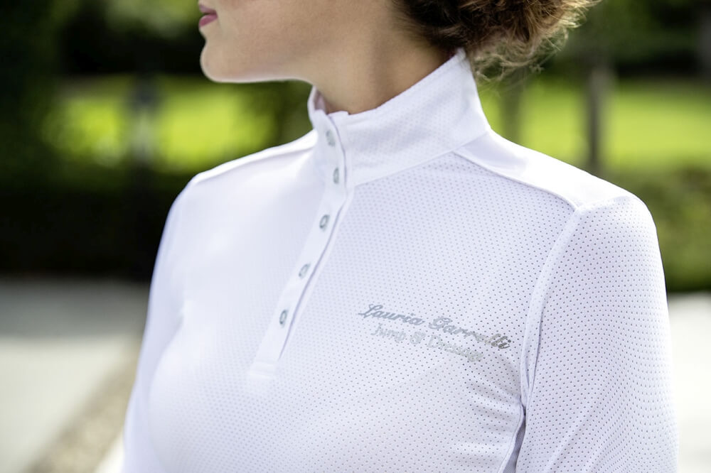 Damen Turniershirt LG Basic Mesh Lauria Garrelli weiß NEU Reit- & Fahrsport