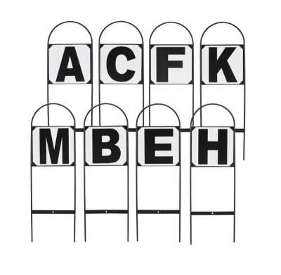 BUSSE Dressurbuchstaben STECKBAR, für Viereck 20 x 40 m, weiß