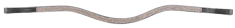 PFIFF Stirnband mit Welle, Warmblut, goldfarben