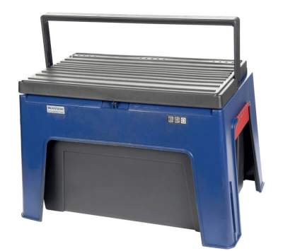 HKM Putzbox -Step-, ca. 30 x 25 x 44 cm, dunkelblau/schwarz