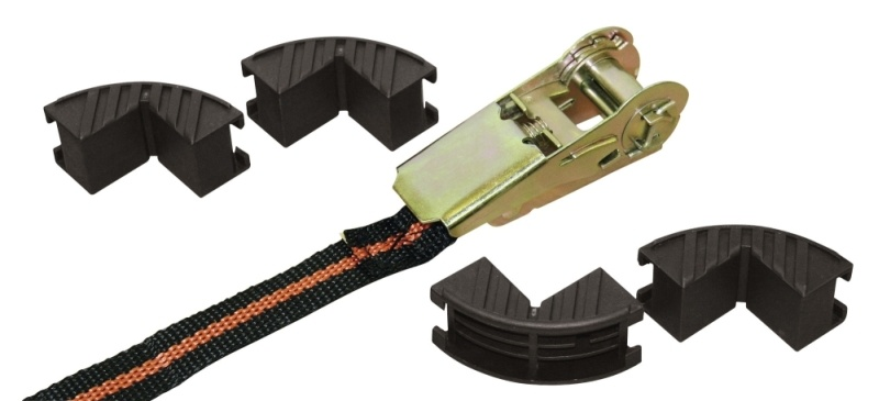 KERBL Ratschenzurrgurt, einteilig mit 4 Kantenschutz, 5 m x 25 mm, Zugkraft 122/245 kg