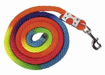 HKM Strick -Multicolor- mit Karabinerverschluss, Länge 180 cm, bunt