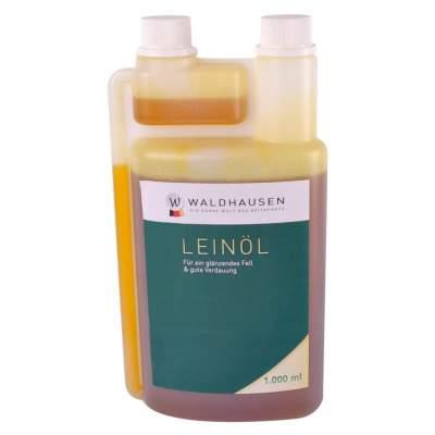 WALDHAUSEN Lein-Öl - Für ein glänzendes Fell und gute Verdauung, 1 l, 1000 ml