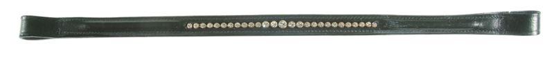 PFIFF Stirnband mit klaren, runden Steinen, schwarz