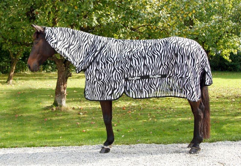 KERBL RugBe Zebra - Fliegen- und Ekzemerdecke mit Halsteil
