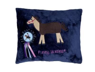 HKM Fleecekissen -Funny Horses-HKM , dunkelblau