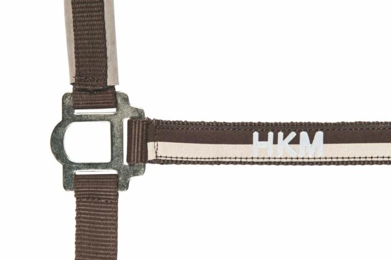 HKM Nylonhalfter mit Strick 180 cm und Karabinerhaken