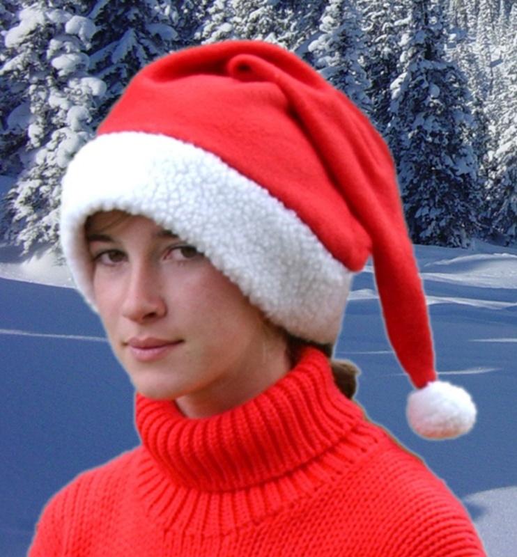 HKM PRO-TEAM Mütze -Christmas-, rot/weiß
