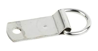 BUSSE Sattel-D-Ring, vernickelt