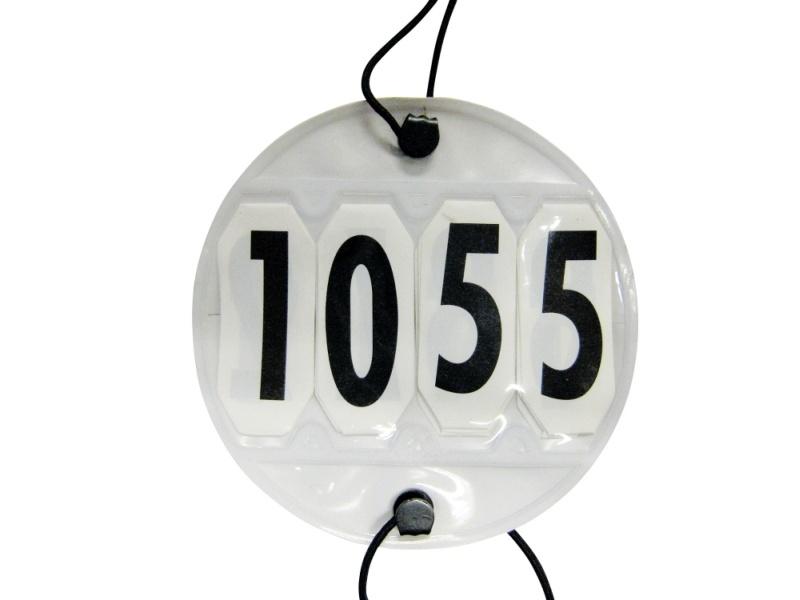 USG Startnummer, 4-stellig, rund