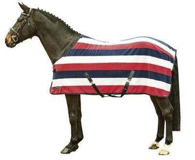 HKM Abschwitzdecke -Fashion stripes- mit Kreuzgurt