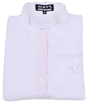 HKM Bluse Arkazia, Grösse XS, weiß/Karo rosa