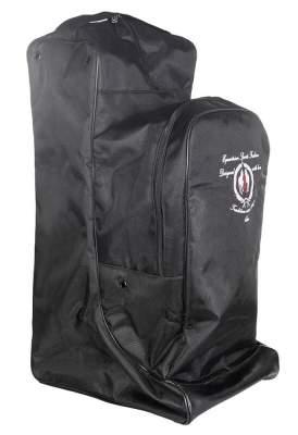 HKM Stiefeltasche mit Helmfach, schwarz