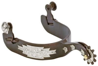 BUSSE WILDHORN Sporen RANCHER, Halslänge 50 mm, Brown Steel